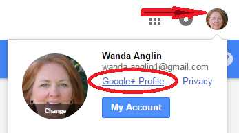 how to select google plus profile to change notification settings