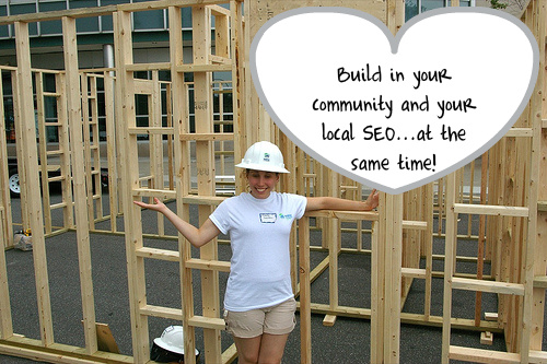 Image Representing building community while building local SEO ranking