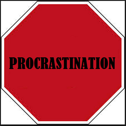 image representing stop procrastinating and start blogging