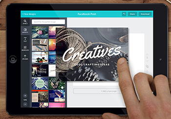 canva is a diy graphics design tool that works great for business owners