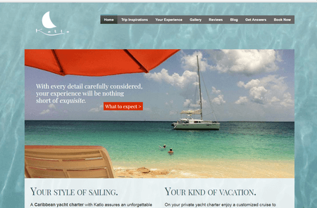 katlo-charters website home page developed by seo buzz