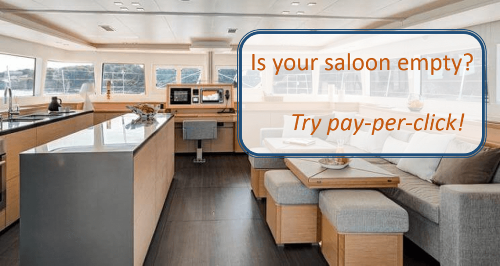pay-per-click ads get yacht charterers