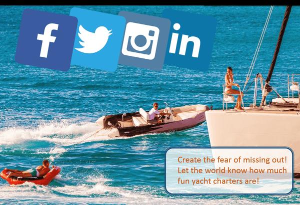 yacht charter business social media